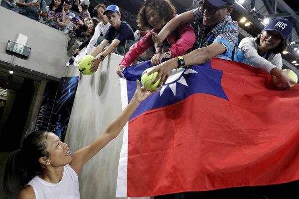 Taiwanská tenistka Hsieh Su-Wei, víťazka turnaja v Hirošime.