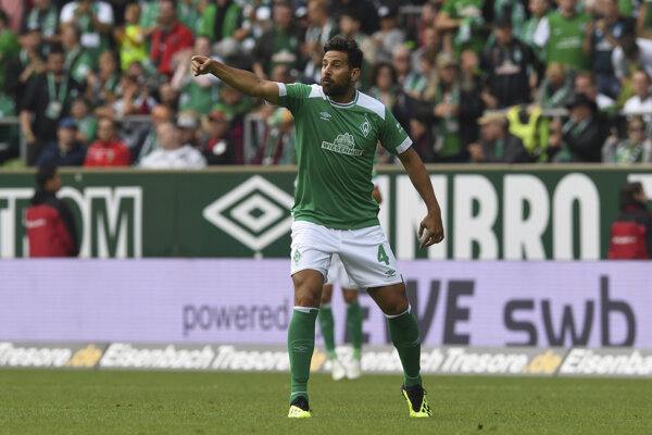 Útočník Werderu Brémy Claudio Pizzaro.