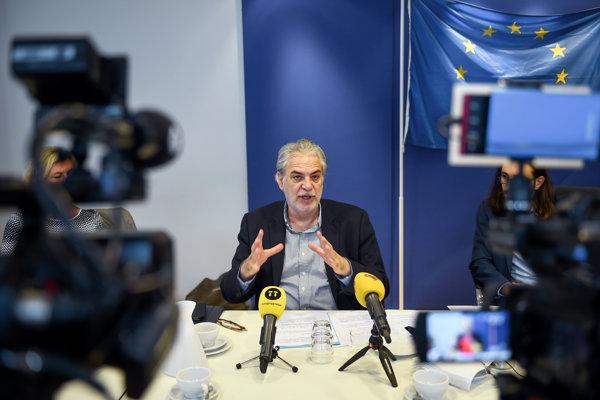 Eurokomisár pre humanitárnu pomoc a krízový manažment Christos Stylianidis.