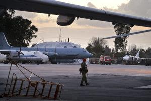 Lietadlo Il-20 na ruskej základni Humajmím v Sýrii.