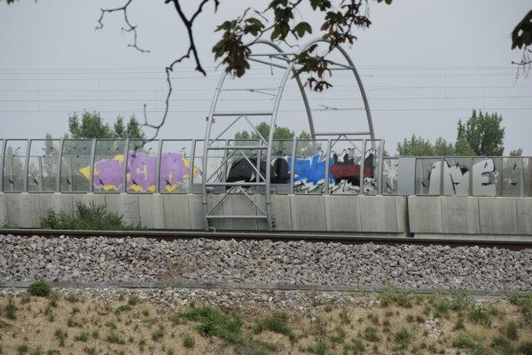 Nový železničný most v Trenčíne.