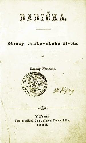 Prvé vydanie Babičky z roku 1855.