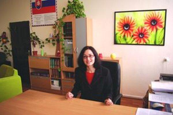 Miriam Tvarožná, riaditeľka Základnej školy na Jahodníckej ulici.