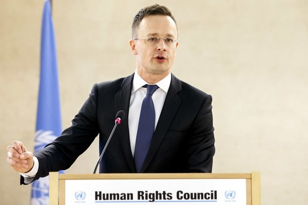Maďarský minister zahraničia Péter Szijjártó.