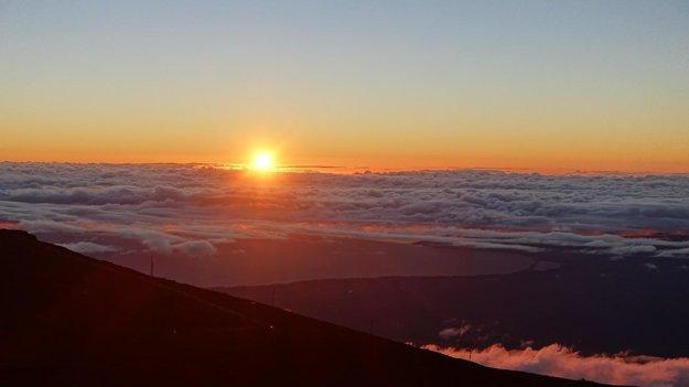 Západ slnka z vrcholu Haleakalā.
