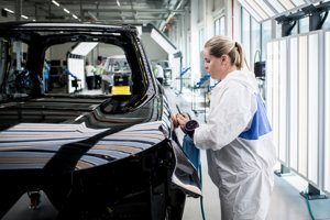 Zamestnanci Jaguar Land Rover.