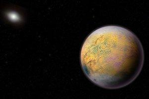 Umelecké zobrazenie možnej deviatej planéty.