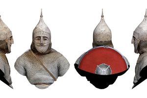 Kumánsky bojovník v zbroji vyzeral hrozivo, prilbu mal aj na tvári.