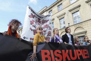Protest proti zneužívaniu v cirkvi.