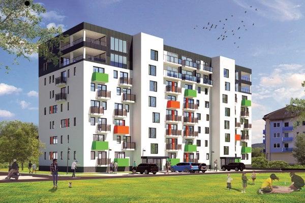 Takto bude bytový komplex vyzerať po dokončení. V septembri 2019.