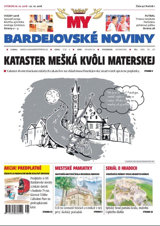 Titulná strana týždenníka MY Bardejovské noviny č.41