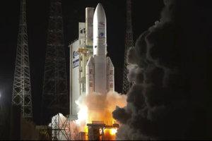 Štart nosnej rakety Ariane 5 s dvoma satelitmi, ktorých úlohou bude skúmať planétu Merkúr.