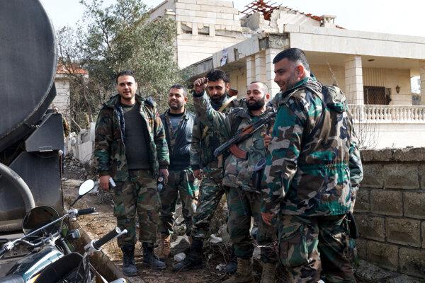Sýrske jednotky v meste Salma.