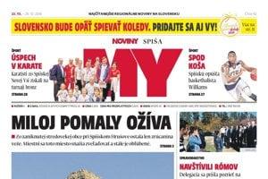 Titulná strana týždenníka MY Noviny Spiša č. 42/2018.