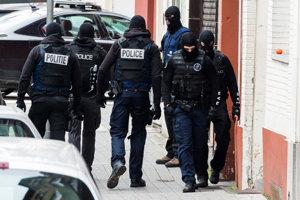 Razia belgickej polície.