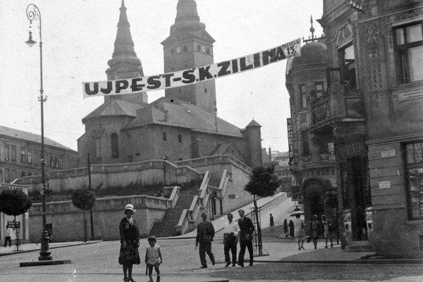 Námestie Andreja Hlinku v Žiline v roku 1930