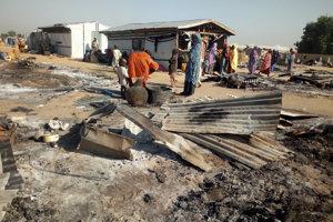 Utečenecký tábor Maiduguri, cieľ útoku militantov.