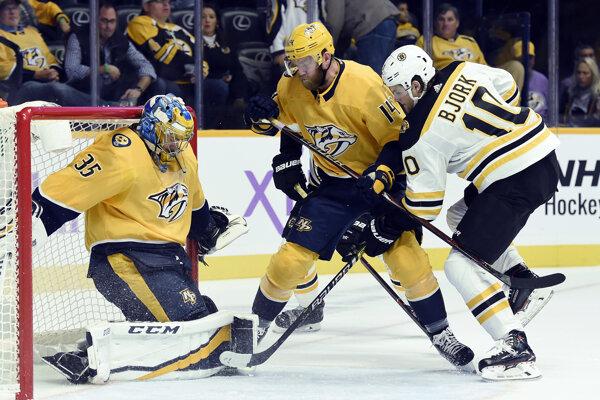 Pekka Rinne vychytal v noci čisté konto v zápase proti Bostonu.
