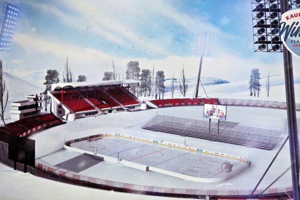 Vizualizácia hokeja pod otvoreným nebom na Štadióne SNP.