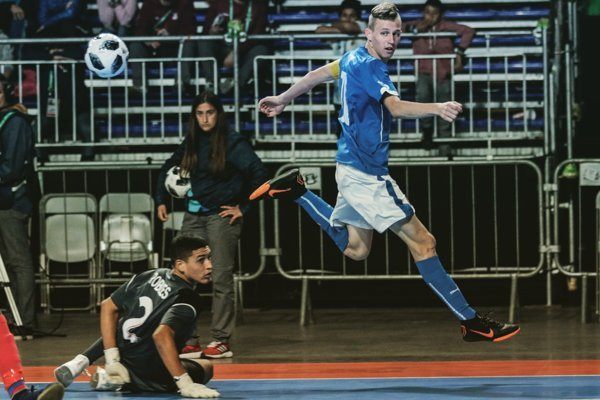 Matúš Ševčík, kapitán mladých slovenských futsalistov.
