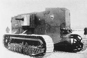 Typ tanku, ktorý sa používal počas prvej svetovej vojny.