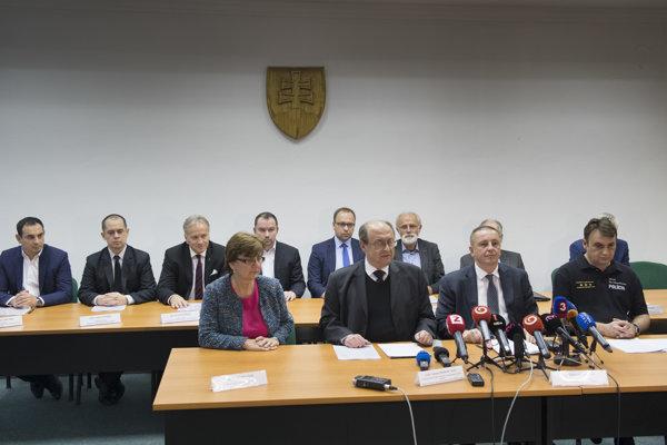 Vyhlásenie výsledkov komunálnych volieb 2018 po zasadnutí Štátnej komisie pre voľby a kontrolu financovania politických strán 11. novembra 2018 v Bratislave.