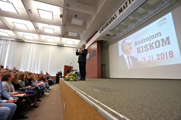 Prezident Kiska v Banskej Bystrici.