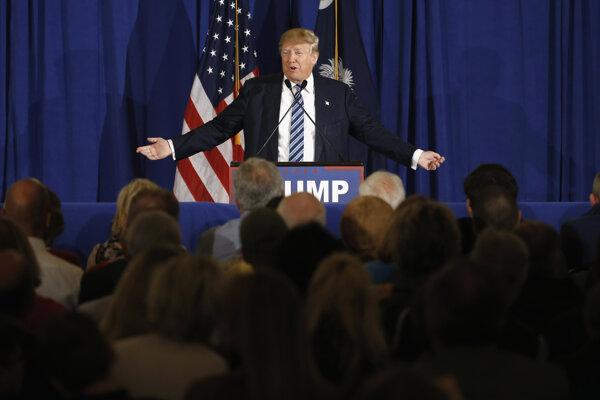 Republikánsky kandidát na amerického prezidenta Donald Trump.