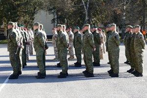 Slávnostný nástup profesionálnych vojakov, ktorí odchádzajú plniť úlohy v rámci operácie Resolute Support v Afganistane a zároveň aj privítanie profesionálnych vojakov, ktorí sa vrátili z Iraku. V Martine dňa 16. novembra 2018. FOTO