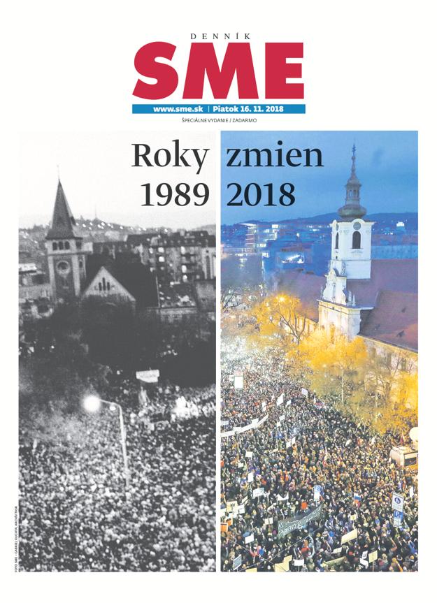 Titulka špeciálneho vydania denníka SME.