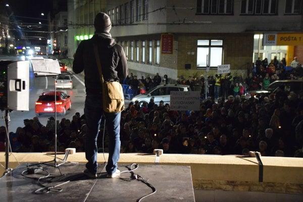 Na pochod v Žiline zavítali desiatky ľudí.