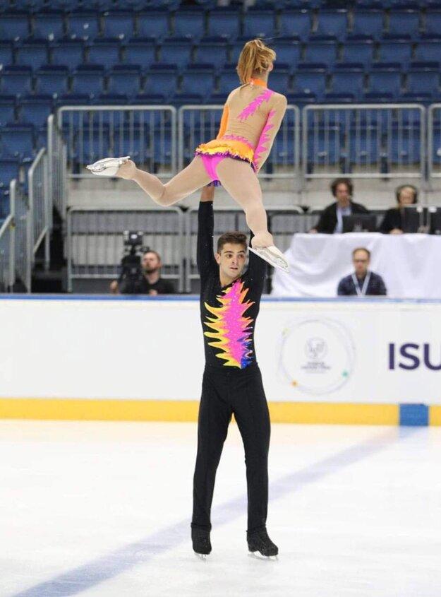 Naša športová dvojica na pretekoch v Minsku.