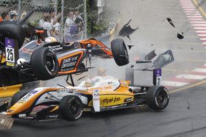 Snímka z nehody Sophie Flörschovej.
