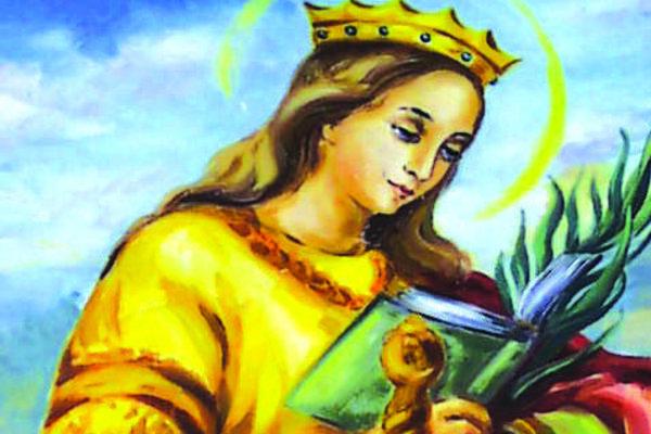 Svätá Katarína je vyobrazená aj na viacerých obrazoch v kostoloch.