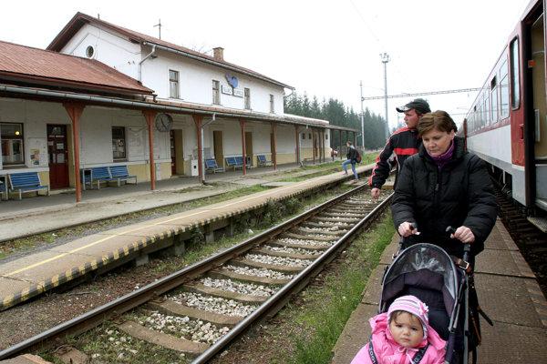 Na železničnej stanici v Sliači. Archívne foto.