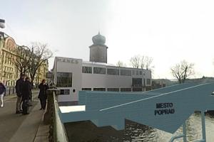 Vizualizácia mosta v Poprade.