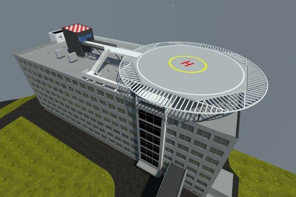 Takto mal podľa spoločnosti Atrium vyzerať heliport na streche chirurgického pavilóna.