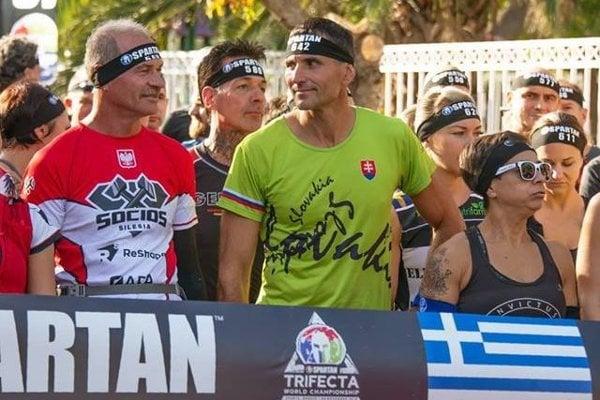Ladislav Sventek na štarte pretekov v Sparte.