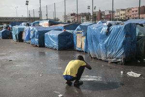 Utečenecký tábor v Maroku.