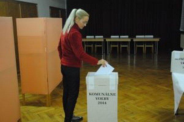 V Dovalove, 1. volebnom obvode v mestskej časti Liptovského Hrádku, vhadzovali voliči obálky do urny do poslednej chvíle.