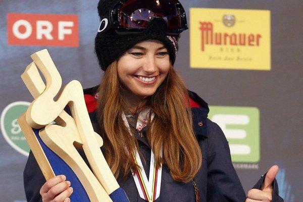 Akrobatická lyžiarka z Liptovského Mikuláša Zuzana Stromková.
