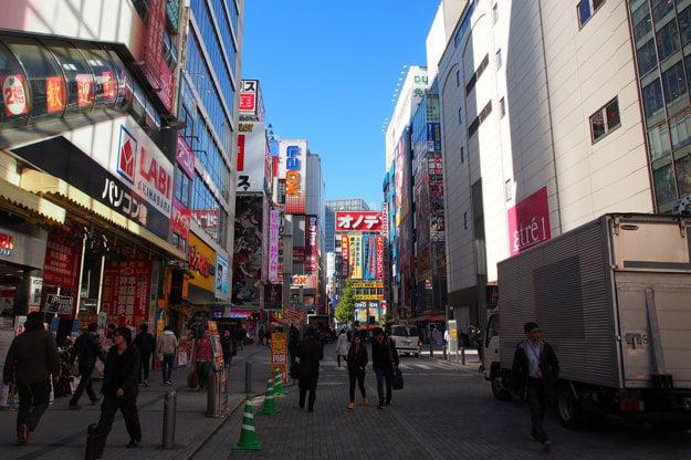 Obchody v štvrti Akihabara