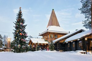 Vianočná dedina neďaleko mesta Rovaniemi