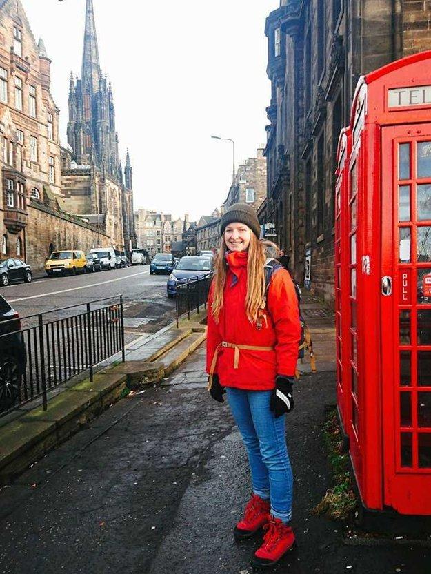 Veronika Jungová v Londýne.