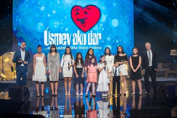 Úsmev ako dar zorganizoval pre deti z detských domovov už 36. ročník Vianočného benefičného koncertu.