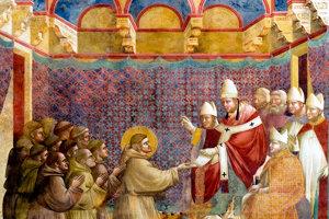Svätý František pred pápežom - medzi našimi františkánmi bolo viacero skvelých hudobníkov aj literátov.