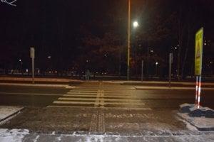 Priechod pre chodcov na Levočskej ulici, miesto dopravnej nehody