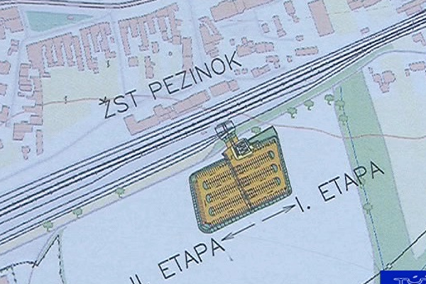 Plán parkoviska.