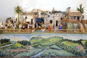 Celkový pohľad ba betlehem Jána Šulca.