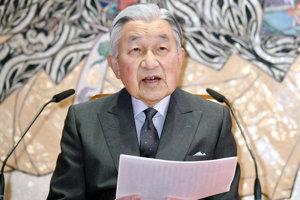Japonský cisár Akihito.